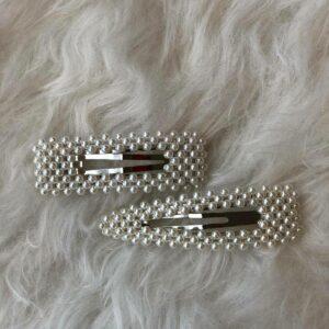 Parel Haarspelden – Zilver