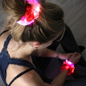 Led Scrunchie Pink